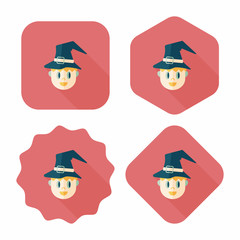 wizard flat icon with long shadow,eps10