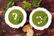 Spinach soup, vintage style.