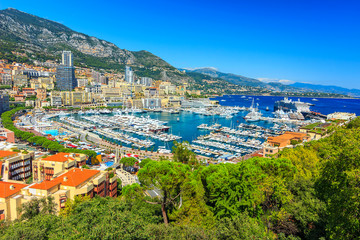 City panorama of Monte Carlo,Monaco,Cote d'Azur,Europe