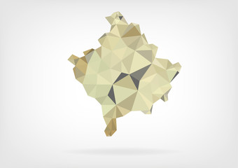Low Poly Map of Kosovo