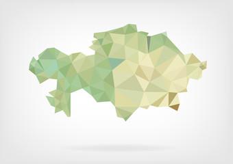 Low Poly Map of Kazakhstan