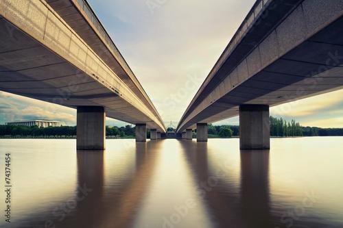 Canberra &  2 Bridges Poster