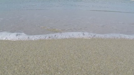 Waves breaking on sand