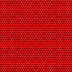 Red Background with Circle Perforated Pattern