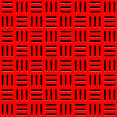 Red Background with Perforated Pattern