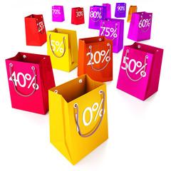 Einkaufstüten von 5 bis 90 %