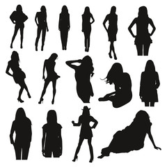 Silhouettes femme 03