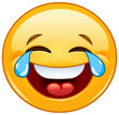 Emoticon with tears of joy