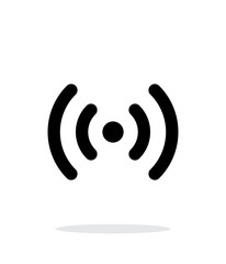 Radio waves icon on white background.
