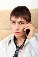 Teenager with Cellphone
