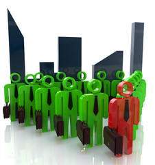 3d team leader boss company teamwork