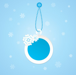 Badge on a winter theme.