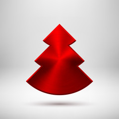 Red Abstract Christmas Tree