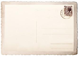 vecchia cartolina postale vintage