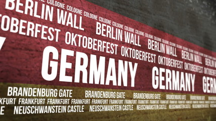 German Flag Tourism Attractions Banner