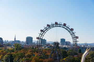Ferris wheel in Vienna, Austria