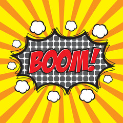 BOOM! comic wording design for comic background, comic strip