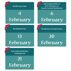 Important dates in february - reminder