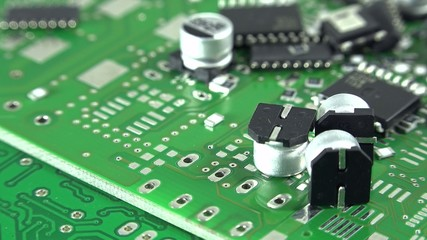Electronic Components as not seamless loopable 4K UHD footage