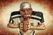 American Football - Spieler mit Ball