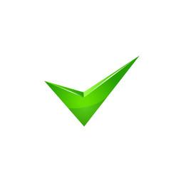 Vector green check mark.