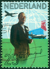 stamp shows Prince Bernhard of the Netherlands