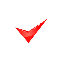 Vector red check mark.