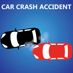 Car crash rear collision