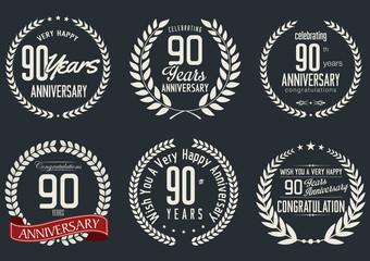 Anniversary laurel wreath design, 90 years