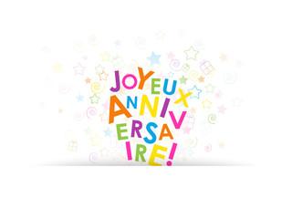 Carte JOYEUX ANNIVERSAIRE (fête félicitations invitation)