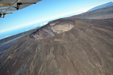 Aerial view volcano