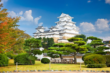 Main tower of the Himeji Castle,  Japan.