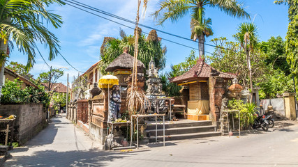 typical balinese architecture, house in sanur