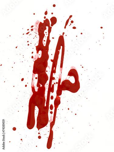 Fotobehang Vormen Blood Drop