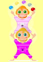 Las gemelas malabaristas