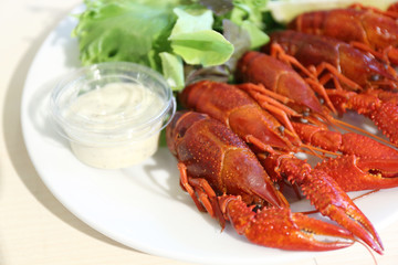 boiled crayfishes