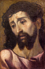 Seville - portrait of Jesus Christ with the crown of thons