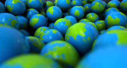 Gum Ball Earth Globes