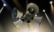 Horn Speakers Hanging Spotlights