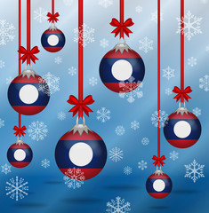 Christmas background flags Laos