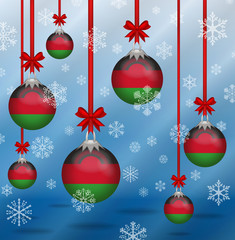 Christmas background flags Malawi