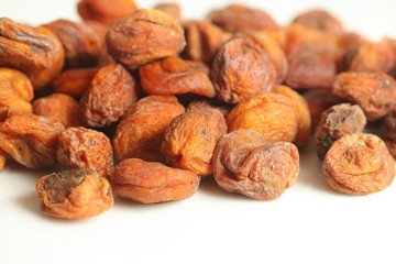 Dried apricots with pits in