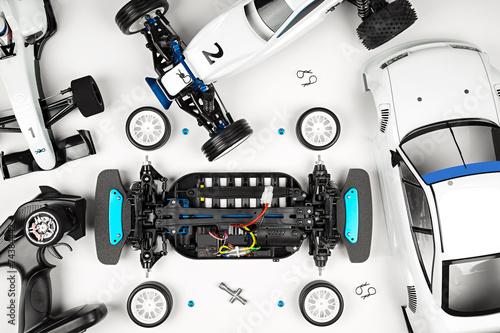 Fotobehang F1 RC cars