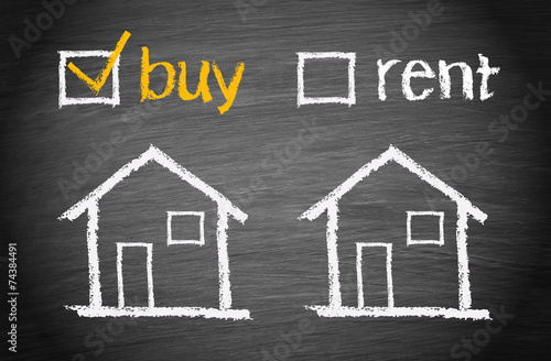 Buy a House - Real Estate Concept - 74384491