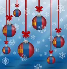 Christmas background flags Mongolia