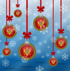 Christmas background flags Montenegro