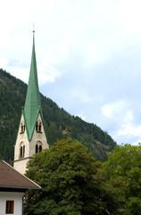 Pfarrkirche in Mayrhofen - Zillertal -  Alpen