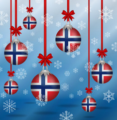 Christmas background flags Norway