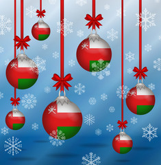 Christmas background flags Oman