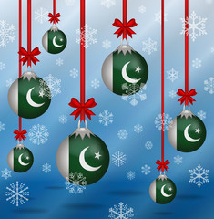 Christmas background flags Pakistan